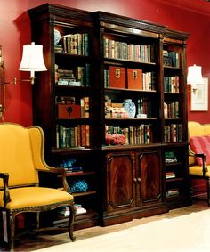 Ralph Lauren Chinoiserie Bookcase Unit (retired / Vintage) Lights With  Touch Dimmer And Nine