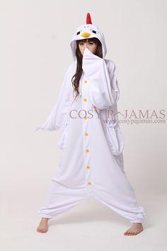 Animal Costume Chick Adult Onesie Kigurumi for Spring & Summer