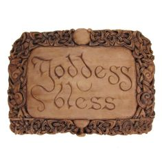 """Our Goddess Bless plaque is the perfect plaque for the Pagan minded. """"Goddess Bless"""" is a common salutation in the Neo-Pagan Community. It is meant to invoke the power, love and protection of the Godd"""