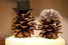 pinecone cake topper :)