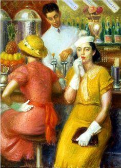 William Glackens (1870-1938) - The Soda Fountain, 1935