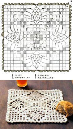 Crochet Coasters Diagram Tutorials Ideas For 2019 - Diy Crafts Crochet Table Runner Pattern, Free Crochet Doily Patterns, Crochet Doily Diagram, Crochet Pillow Pattern, Crochet Bedspread, Granny Square Crochet Pattern, Crochet Tablecloth, Crochet Chart, Crochet Squares