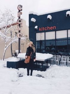 I love Crave Kitchen in El Paso-- in sun and snow!