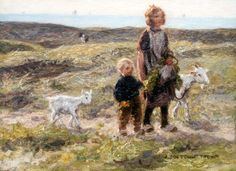 Johannes 'Jan' Zoetelief Tromp (Batavia (Nederlands-Indië) Breteuil-sur-Iton (Frankrijk)) Homeward bound - Dutch Art Gallery Simonis and Buunk Ede, Netherlands. Breeding Goats, Amsterdam, Dutch Painters, Dutch Artists, Love Drawings, Artist Art, Art For Kids, Indie, Art Gallery