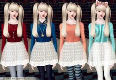 Lace Mesh Dress With Leggings by JS Sims 3 - Sims 3 Downloads CC Caboodle