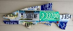 Commissioned Montana license plate trout. Veteran plate, two cut-throat trout plates.