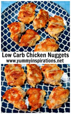 Parmesan Chicken Nuggets - Low Carb, Keto Diet - Recipe and video of how to make parmesan crusted chicken nuggets that's Ketogenic Diet friendly.