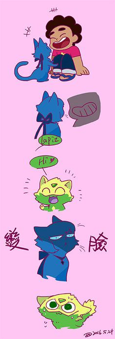 Kitty lapis and peridot