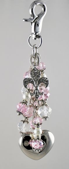 Fleur De Lis purse light by Diva Dangles at www.divadangles.com