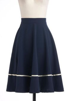 Streak Clearly Skirt, #ModCloth | great skirt for the #AboveAverage Fashion office look for all you Tall not Small women.