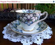 Rosina Tea Cup and Saucer Teacup Bone by TheVintageTeacup - Would love a cup and saucer pair similar to this