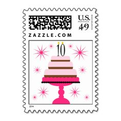 >>>Best          	Pink Tiered Cake 10th Birthday Postage Stamps           	Pink Tiered Cake 10th Birthday Postage Stamps online after you search a lot for where to buyThis Deals          	Pink Tiered Cake 10th Birthday Postage Stamps please follow the link to see fully reviews...Cleck Hot Deals >>> http://www.zazzle.com/pink_tiered_cake_10th_birthday_postage_stamps-172103533469074131?rf=238627982471231924&zbar=1&tc=terrest