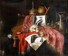 7 Gysbrechts_Still_life_with_a_skull GDANSK Vanitas Vanitatum, Les Oeuvres, Painting & Drawing, Still Life, Golden Age, Painters, Drawings, Skulls, Schools