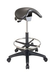 Ergo Saddle Seat Stool with drafting kit ... for when I ever decide to get that standing desk setup