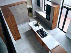 Modern and sleek yet practical and functional. Gloss Kitchen, Kitchen Modern, Living Spaces, Kitchens, Bathtub, Interior Design, Board, Standing Bath, Nest Design