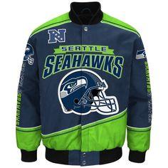 """Seattle Seahawks Men's NFL G-III """"Enforcer"""" Premium Twill Jacket #GIII #SeattleSeahawks"""