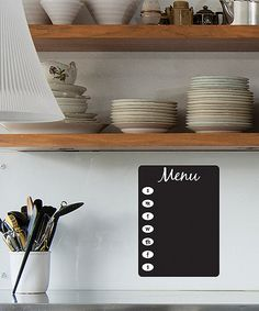 Take a look at the Whimsical Menu Chalkboard Wall Decal on #zulily today!