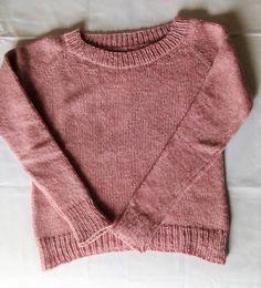 Maglione donna in lana rosa fatto a mano oversize
