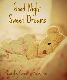 Good night via Carol's Country Sunshine on Facebook