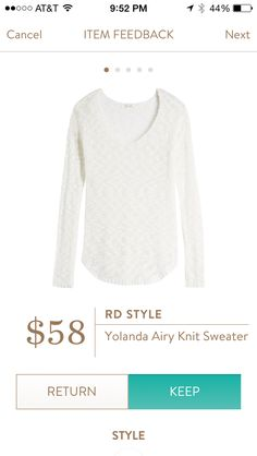 This sweater is extremely light. Perfect for cool nights. Stitch fix 2016. Try stitch fix subscription box :) It's a personal styling service! 1. Sign up with my referral link. (Just click pic) 2. Fill out style profile! Make sure to be specific in notes. 3. Schedule fix and Enjoy :) There's a $20 styling fee but will be put towards any purchase!