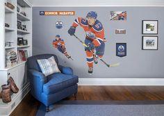 Connor McDavid - Orange Fathead Wall Decal