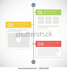 Modern timeline design template by Godruma, via ShutterStock