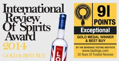London Vodka takes Gold at 2014 International Review of Spirits