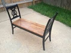 Image result for french bench from 2 chairs
