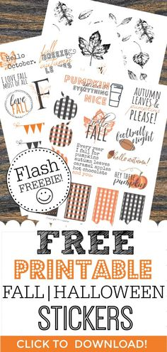 Free Printable Fall Planner Stickers for Your Happy Planner! Low on moolah? Need free printable fall planner stickers to rock your Happy Planner or Erin Condren layout? We have the free printable fall stickers your looking for! Printable Sticker Paper, Printable Planner Stickers, Free Printables, Journal Stickers, Planner Free, Happy Planner, Planner Ideas, Monthly Planner, Planner Diy