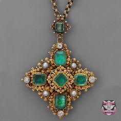 Antique Georgian Emerald Necklace
