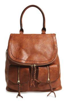 92325ddd8b5 Emery Faux Leather Backpack Brown Backpacks, Stylish Backpacks, Cute  Backpacks For Women, Cute