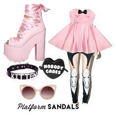 Designer Clothes, Shoes & Bags for Women Pastel Goth, Platform, Shoe Bag, Polyvore, Stuff To Buy, Shopping, Collection, Sandals, Design