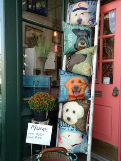 Dog pillows! New breeds available. Very limited quantities. Great holiday gifts. Cross Creek 513-503-0261