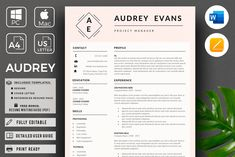 1 Page Resume Template, CV for Word , Template Cv, Modern Resume Template, Resume Templates, Design Templates, Design Tutorials, Cover Letter Format, Cover Letter Template, Letter Templates, Resume Cv