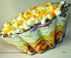 Super przepis na sałatkę drobiową z tzatziki. Polish Recipes, Meat Recipes, Salad Recipes, Cooking Recipes, Tzatziki, Appetizer Salads, Creative Food, Food Design, Us Foods