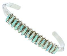 Zuni Indian Opal And Sterling Silver Cuff Bracelet HS74305 http://www.silvertribe.com