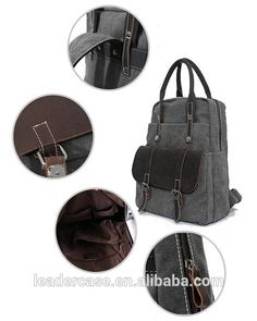 Check out this product on Alibaba.com App Vintage backpack canvas bags for  men black laptop backpacks. Ida Appel · Bag · New Travel ... 9780717f52