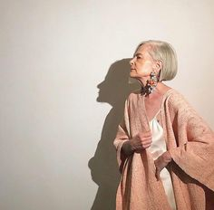 Such a pleasure to be a and model for Photo: Abigail Doan in Fiber/agency Urban Aesthetic, Aesthetic Fashion, Mature Fashion, Fashion Over 50, Accidental Icon, Stylish Older Women, Older Models, Advanced Style, Aged To Perfection