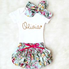 Personalized baby girl outfit girl outfits onesie and photoshoot sale personalized baby girl outfit coming home outfit baby girl clothes personalized outfit baby shower negle Choice Image