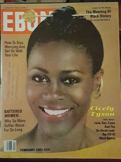 vintage ebony #magazine: featuring cicely tyson - february 1981 issue from $30.0