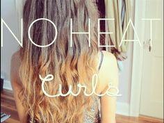 Tutorial: No Heat Beachy Waves/Curls Overnight