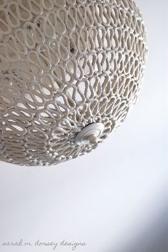 DIY Pendant light made from rope