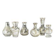 Set of 6 Mercury Bud Vases