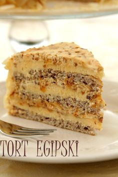 Egyptian cake. When you follow this link you will find that the recipe is in ?Polish but you can translate through Google translator.