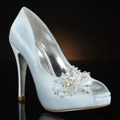 light blue bridemaids shoes | The Best of My Glass Slipper's Custom Wedding Shoes second choice