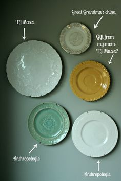 hanging plates on walls | the idea of hanging plates on your wall isn t a new one i love hanging ...