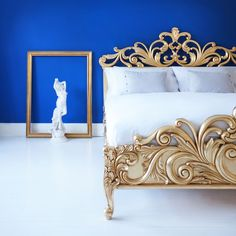 Brand new French bed by the French Bedroom Company. Gold French's Bed. The Queen's French Bed.
