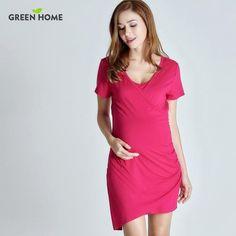 792179efb9c Green Home Summer Maternity Nursing Dress For Pregnant Women Daily Wearing Pregnancy  Dress For Breastfeeding Pregnancy