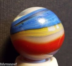 "Vintage Special Blue Yellow Swirl Marble Blue Yellow GR8 Colors 11/16"" VGC - http://hobbies-toys.goshoppins.com/marbles/vintage-special-blue-yellow-swirl-marble-blue-yellow-gr8-colors-1116-vgc/"