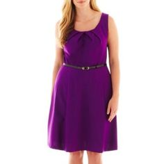 Alyx® Sleeveless Fit-and-Flare Dress - Plus   found at @JCPenney